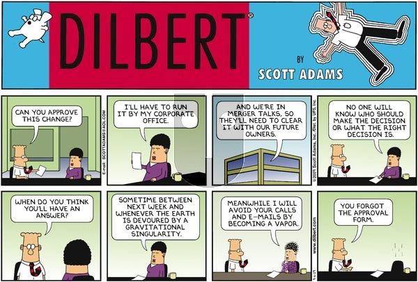 Dilbert on Sunday September 6, 2009 Comic Strip