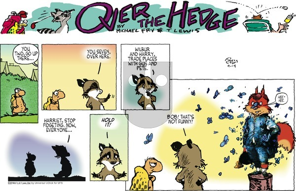 Over the Hedge on Sunday September 14, 2014 Comic Strip