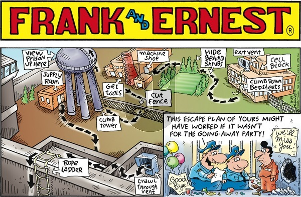Frank and Ernest on Sunday August 23, 2015 Comic Strip