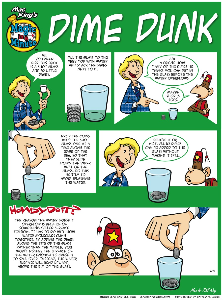 Magic in a Minute for Jul 14, 2013 Comic Strip