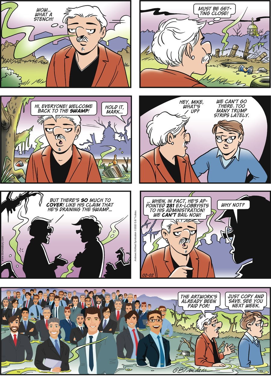 Doonesbury Comic Strip for February 02, 2020