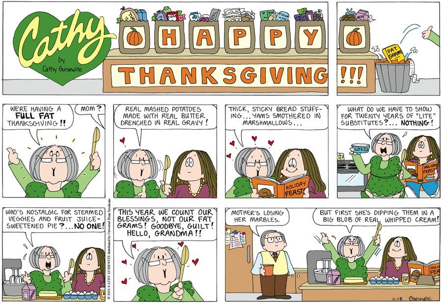 Cathy Classics Comic Strip for November 18, 2001