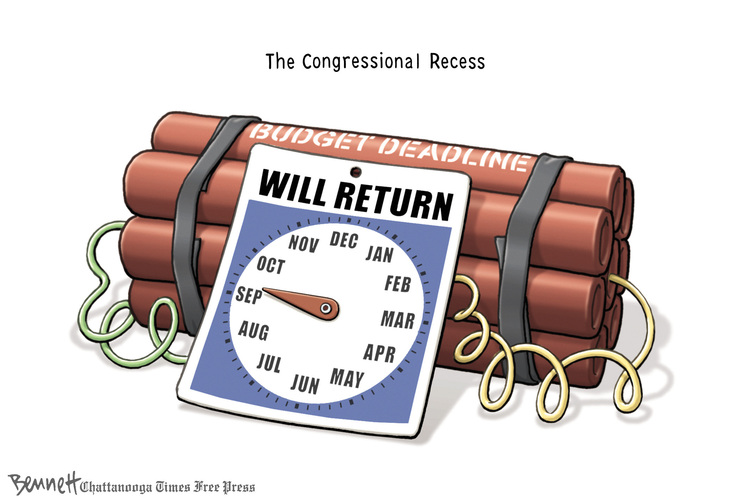 Clay Bennett for Aug 5, 2013 Comic Strip