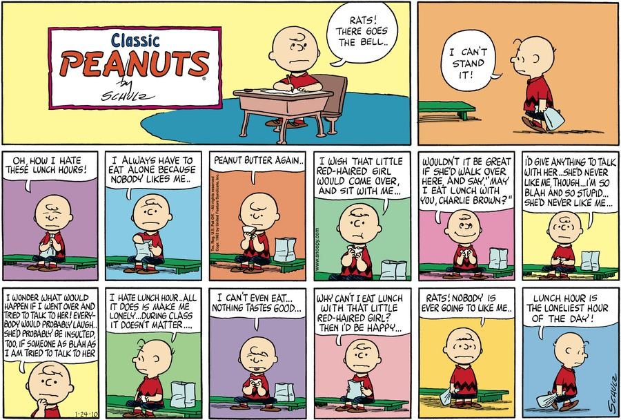 Peanuts Comic Strip for January 24, 2010