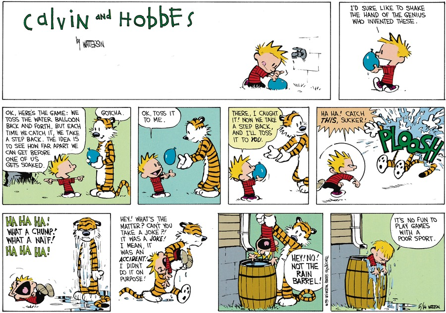 Calvin and Hobbes Comic Strip for July 01, 1990