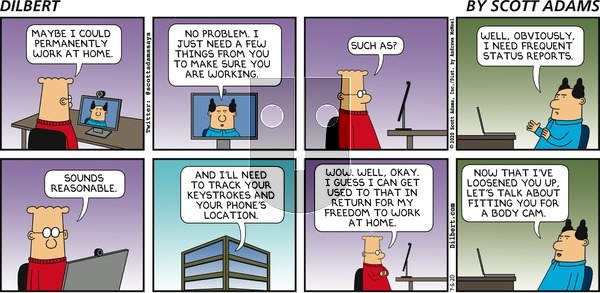 Dilbert on Sunday July 5, 2020 Comic Strip