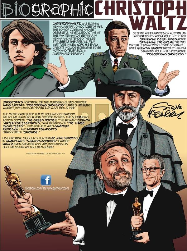 Biographic - Sunday April 7, 2013 Comic Strip