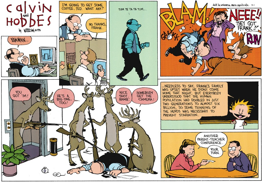 Calvin and Hobbes Comic Strip for March 01, 2015