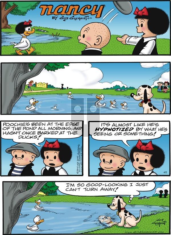 Nancy on April 2, 2017 Comic Strip