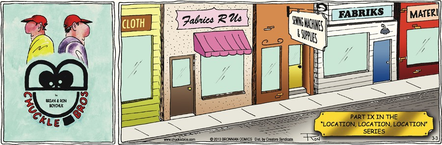 Chuckle Bros Comic Strip for March 03, 2013