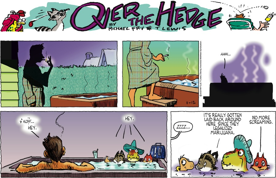 Over the Hedge Comic Strip for January 12, 2020
