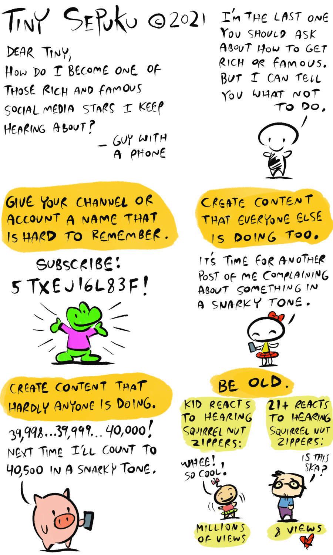 Tiny Sepuku Comic Strip for April 05, 2021