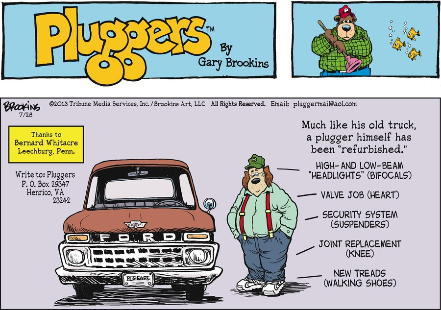Pluggers for Jul 28, 2013 Comic Strip