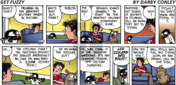Get Fuzzy on Sunday February 27, 2011 Comic Strip