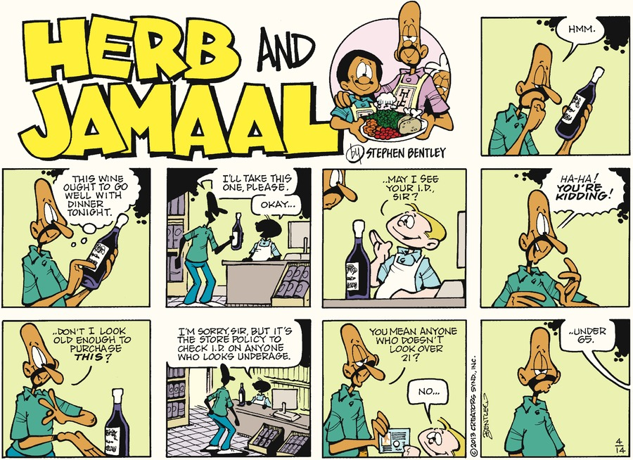 Herb and Jamaal for Apr 14, 2013 Comic Strip