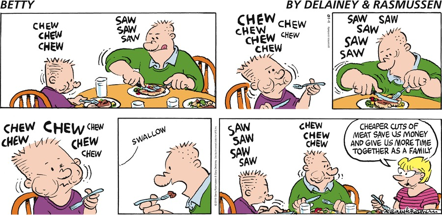 Betty Comic Strip for January 10, 2016