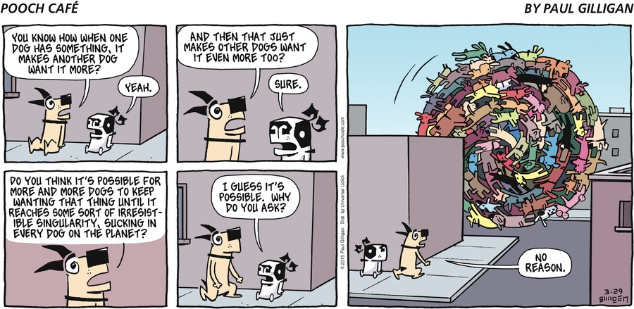 Pooch Cafe Comic Strip for March 29, 2015