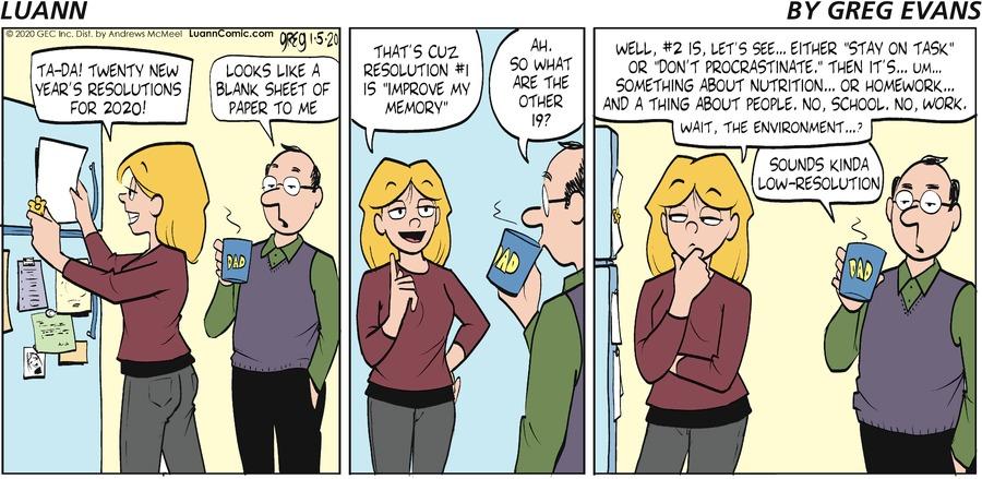 Luann Comic Strip for January 05, 2020