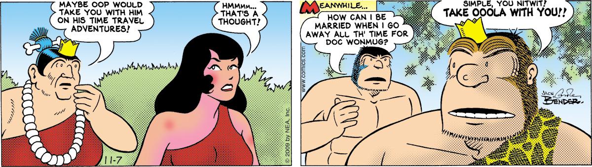 Alley Oop for Nov 7, 2009 Comic Strip