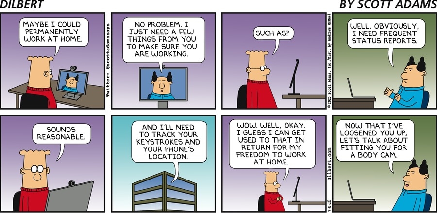 Tracking Dilbert - Dilbert by Scott Adams