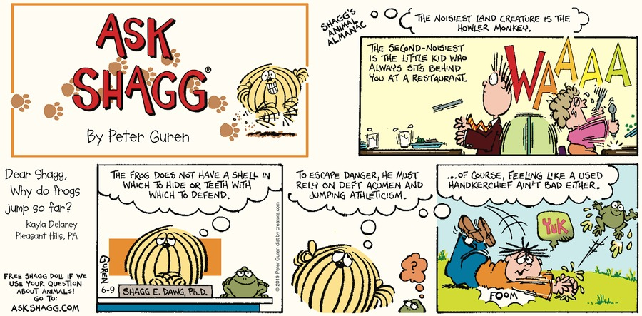 Ask Shagg Comic Strip for June 09, 2019