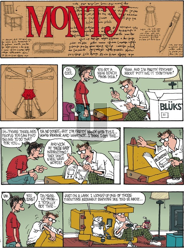 Monty on Sunday April 5, 2020 Comic Strip
