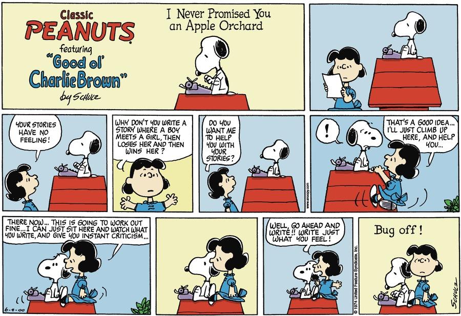Peanuts Comic Strip for June 04, 2000
