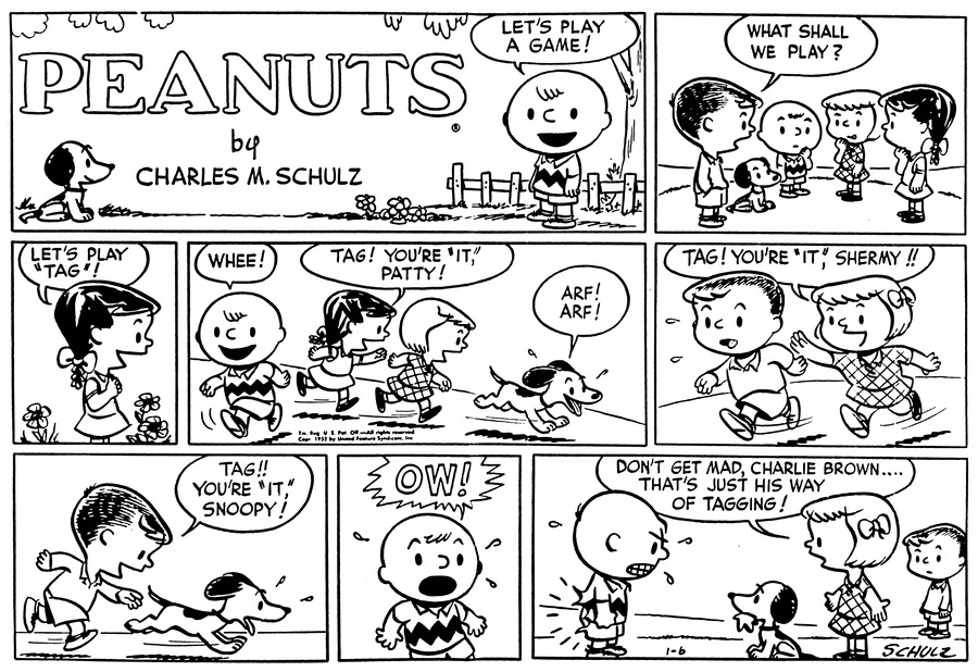 Peanuts Comic Strip for January 06, 1952