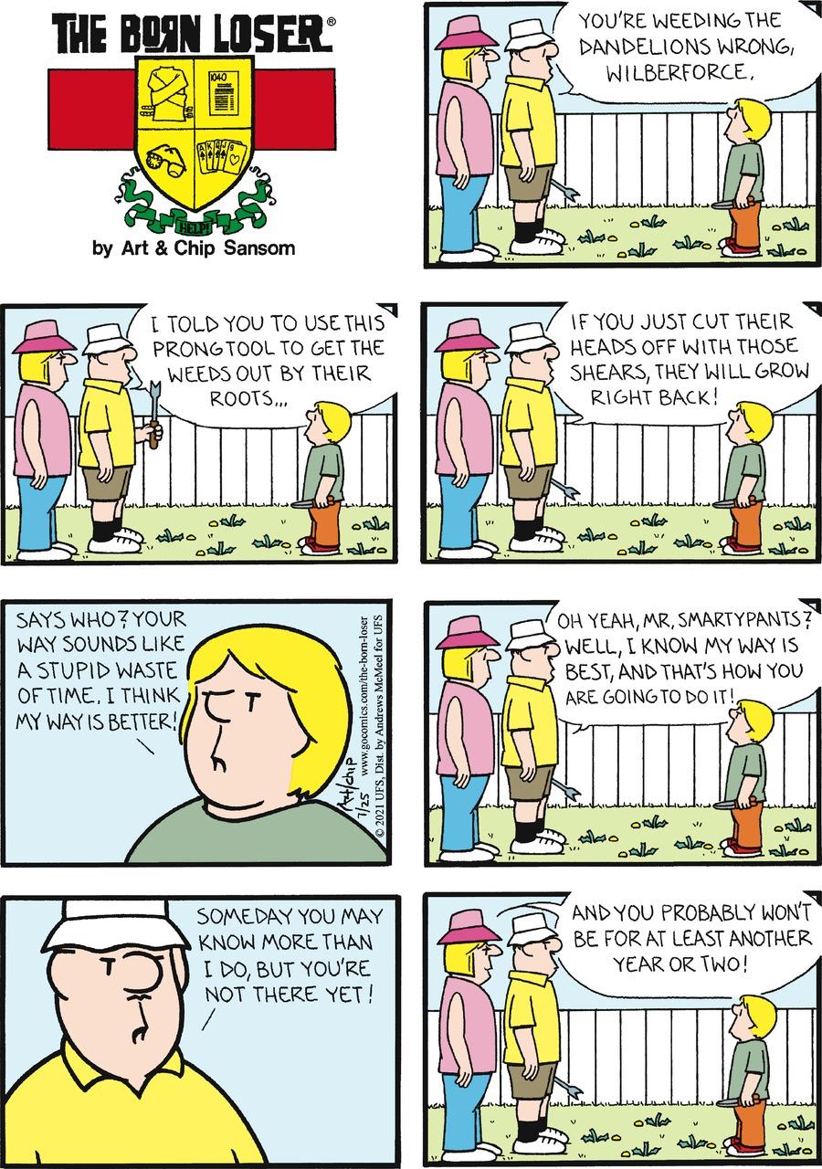 The Born Loser Comic Strip for July 25, 2021