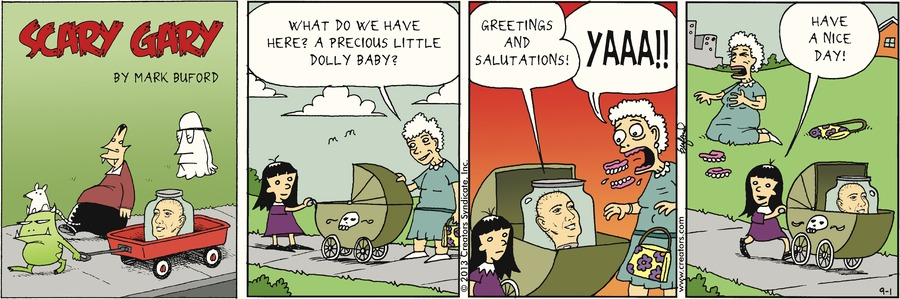 Scary Gary for Sep 1, 2013 Comic Strip