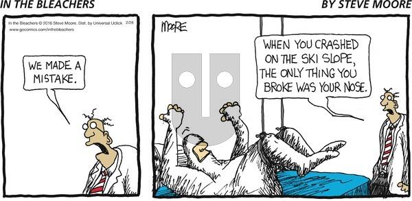 In the Bleachers on Sunday February 28, 2016 Comic Strip