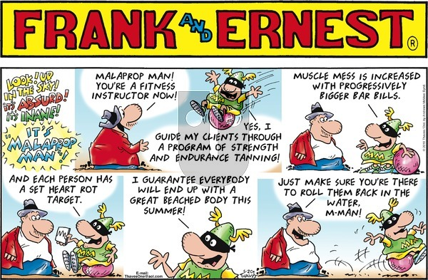 Frank and Ernest on Sunday May 20, 2018 Comic Strip