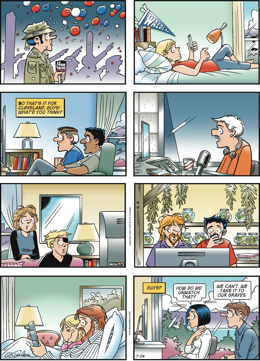 Doonesbury Comic Strip for July 24, 2016