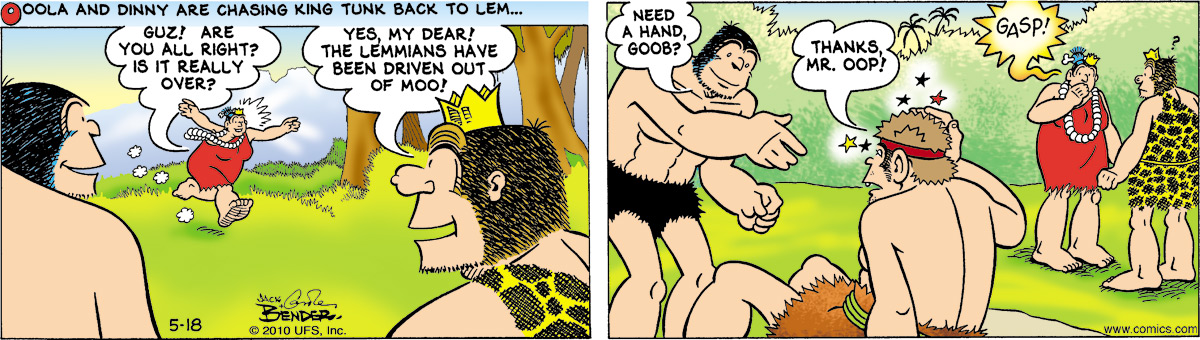Alley Oop for May 18, 2010 Comic Strip