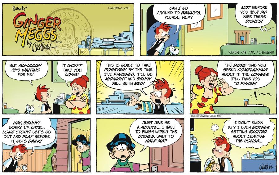 Ginger Meggs for Jan 19, 2014 Comic Strip