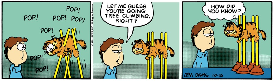Garfield Classics Comic Strip for October 18, 2020