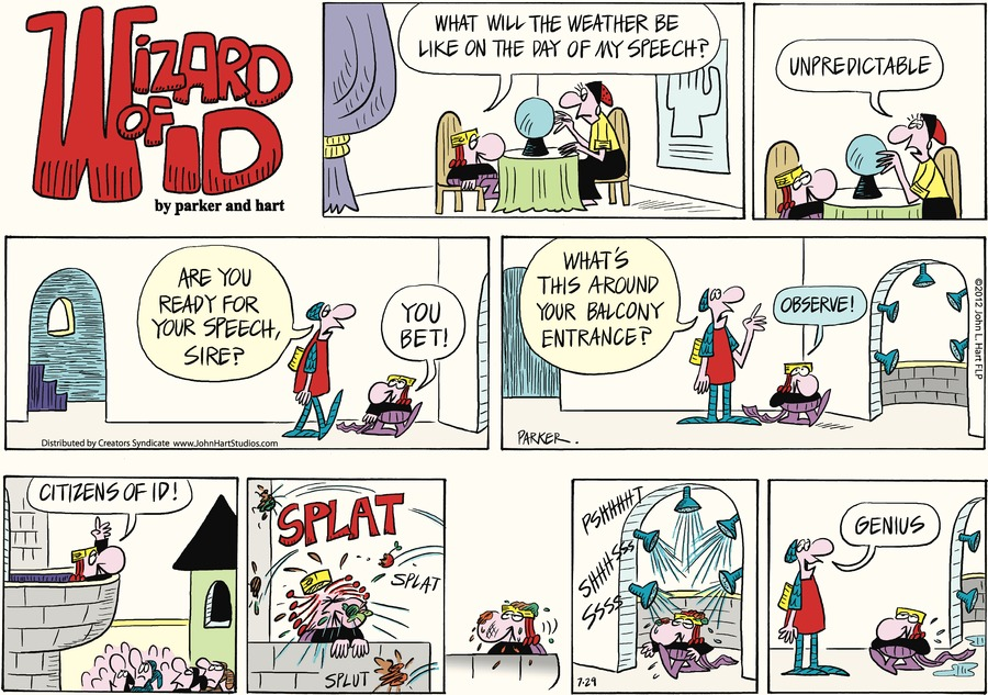 Wizard of Id for Jul 29, 2012 Comic Strip