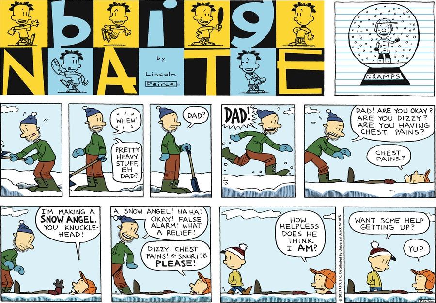 Big Nate Comic Strip for January 13, 2013