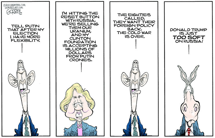 Bob Gorrell Comic Strip for July 18, 2018