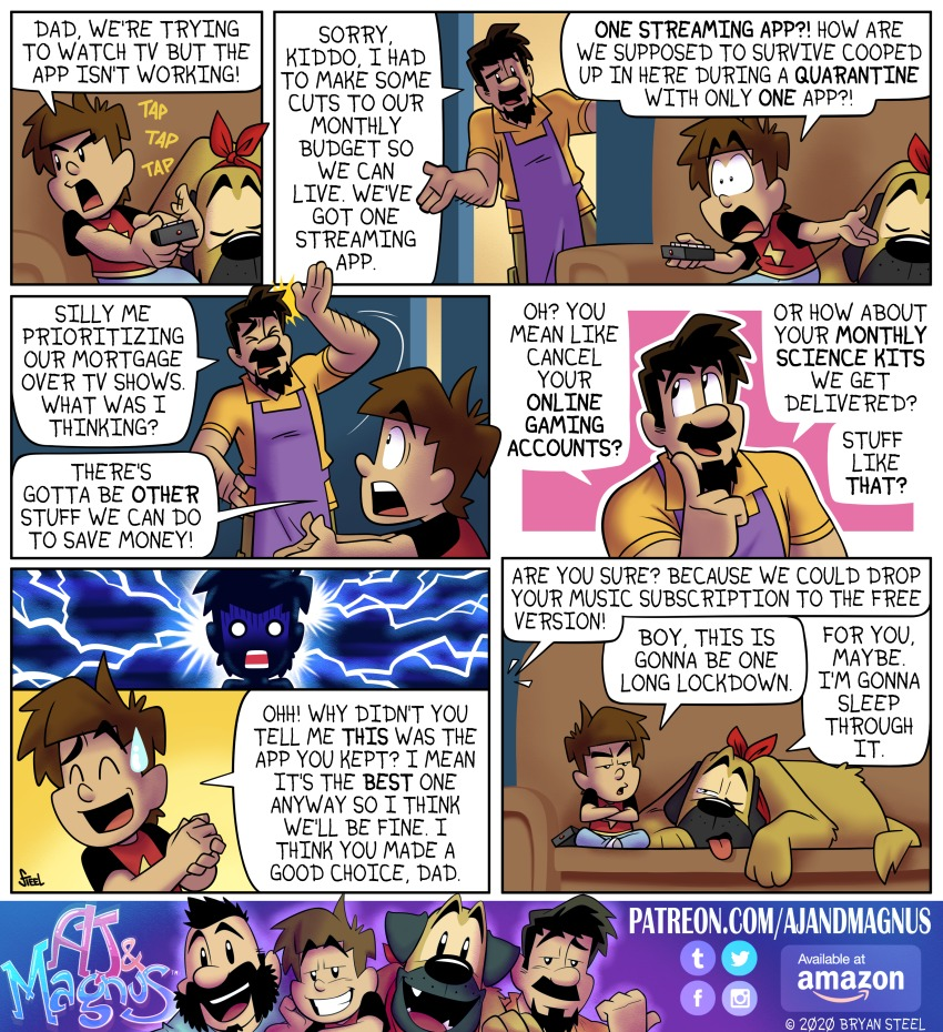 AJ and Magnus Comic Strip for March 29, 2020