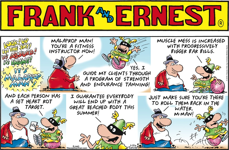 Frank and Ernest Comic Strip for May 20, 2018