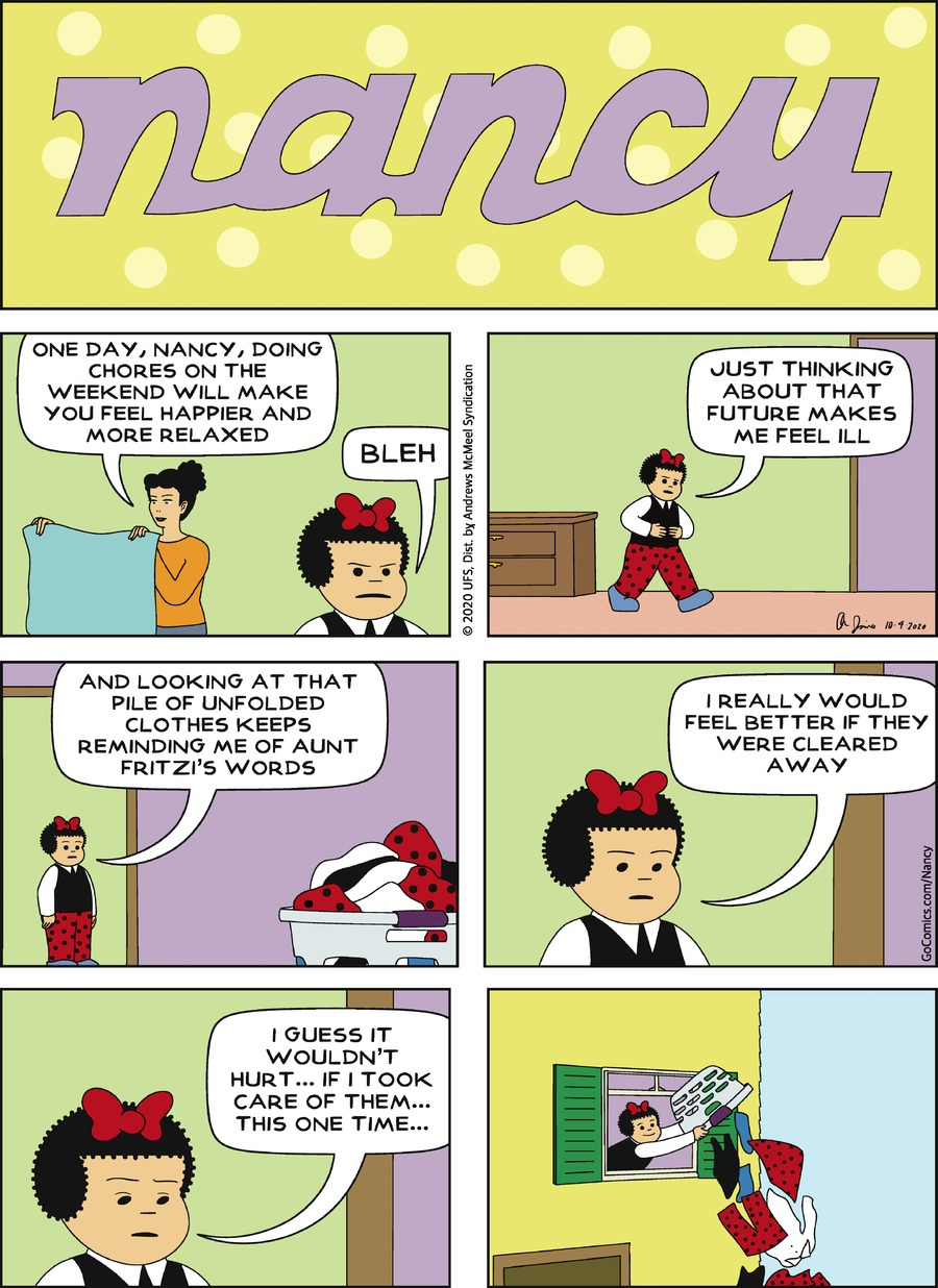 Nancy Comic Strip for October 04, 2020