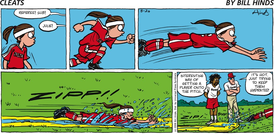 Cleats Comic Strip for August 20, 2006
