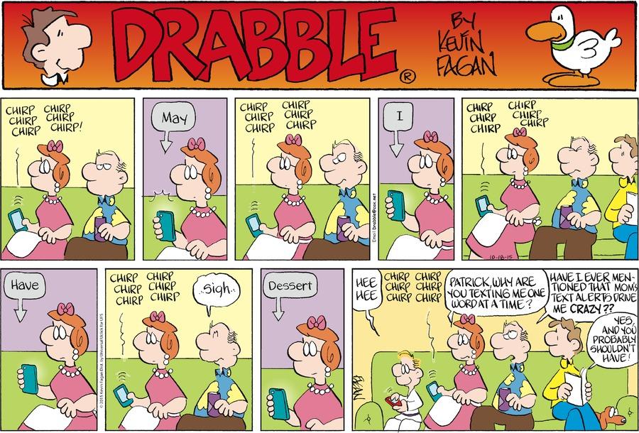 Drabble for Oct 18, 2015 Comic Strip