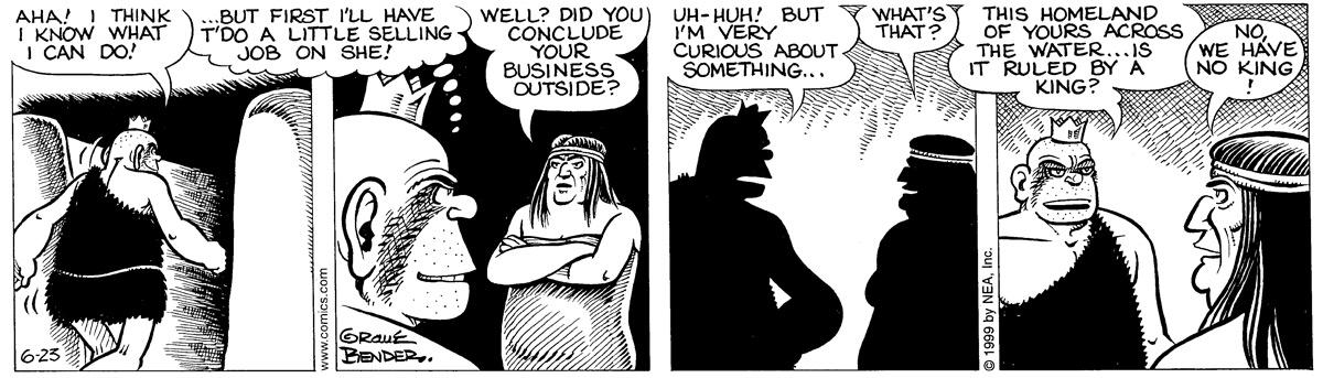 Alley Oop for Jun 23, 1999 Comic Strip