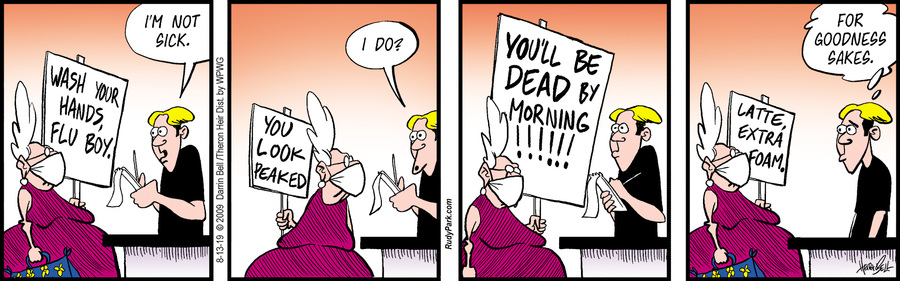 Rudy Park Comic Strip for August 13, 2019