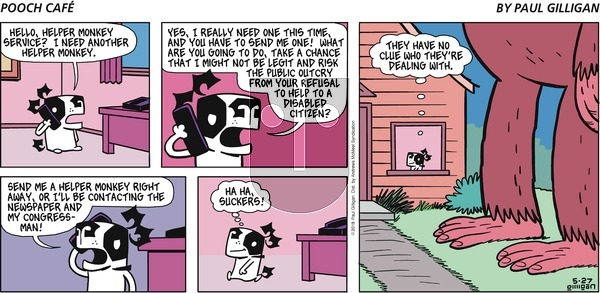 Pooch Cafe on Sunday May 27, 2018 Comic Strip