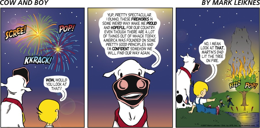 Cow and Boy Classics Comic Strip for July 08, 2007