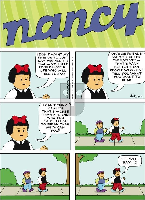 Nancy - Sunday August 4, 2019 Comic Strip