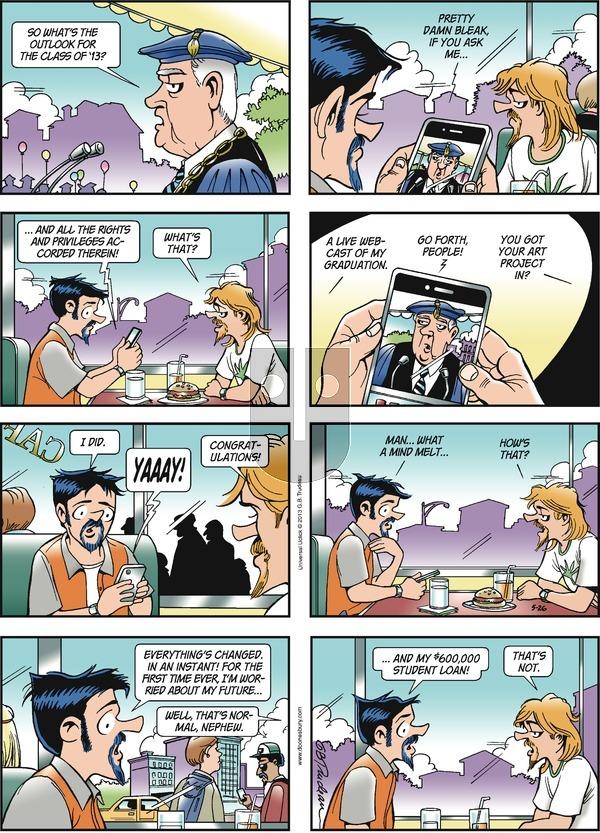 Doonesbury on Sunday May 26, 2013 Comic Strip